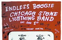 Gig poster of the week: Bathroom graffiti with Endless Boogie