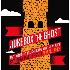 Gig poster of the week: Jukebox the Ghost on the face of a castle