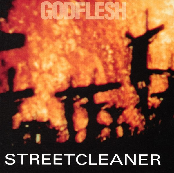 Godflesh's first full-length album, Streetcleaner, came out in 1989. The cover image is from one of the hallucination scenes in the 1980 film Altered States.