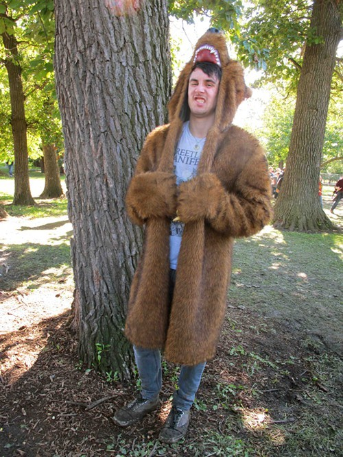 Guy makes a bear coat look totally casual.