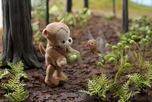 """""""Hank Finds an Egg,"""" from Rebecca Dudley's Storywoods - COURTESY THE ARTIST"""