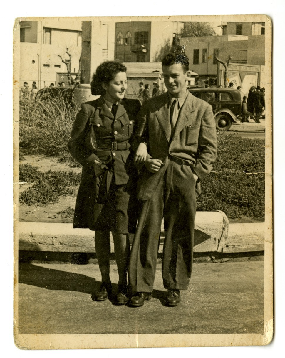 Hannah Senesh and her brother Gyuri in Israel, 1944