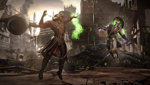 "Ermac finishes off Raiden in Mortal Kombat X. The brutal ""fatalities"" in the"
