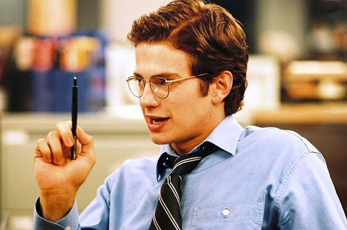Hayden Christensen playing Stephen Glass in Shattered Glass