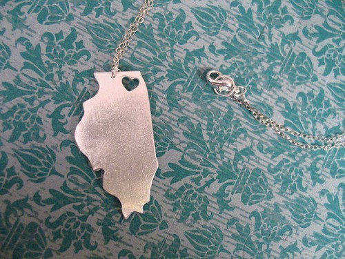 Heart Illinois necklace by tru.che