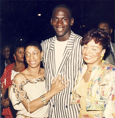 Helen Wooten with Michael Jordan