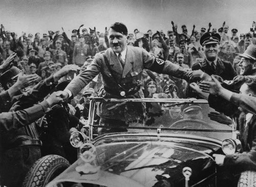 How high was Hitler when this picture was taken?