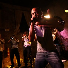 Hypnotic Brass Ensemble performing at the Shrine