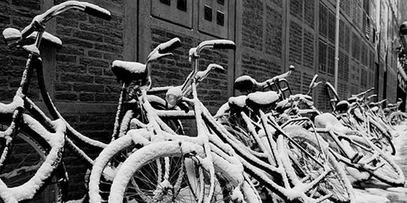 I can't believe people bike through blizzards
