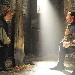 I need a hero: Tyrion (Peter Dinklage) gets some bad news from Bronn (Jerome Flynn)