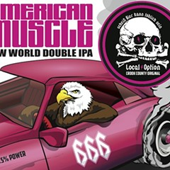 If and when American Muscle shows up in bottles, I wouldn't be surprised to see this patriotic fellow on the label.