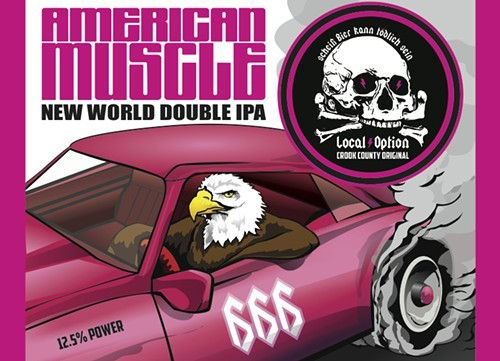 When American Muscle shows up in bottles, I wouldnt be surprised to see this patriotic fellow on the label.