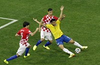 World Cup soccer isn't the only occasion for flopping