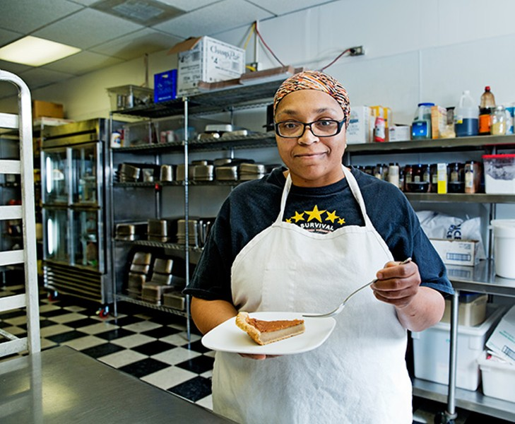 Imani Muhammad's bean pies are sold across Chicago's south side—and to customers in eight states. - AMANDA AREIAS