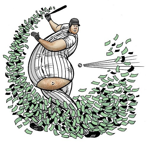 In Dunns four seasons with the White Sox, the money was blowing out.