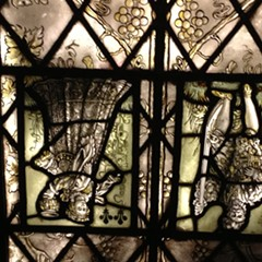 In lieu of poorly lit spaetzle, please accept this poorly lit stained glass