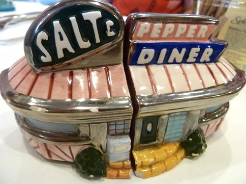 Inas collection of salt and pepper shakers.
