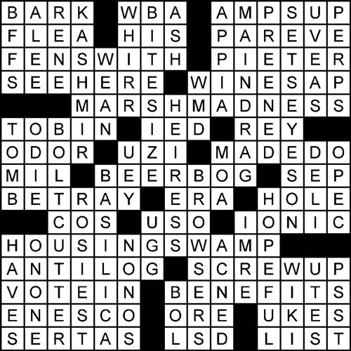 Inkwell: Ecological Change crossword puzzle solution