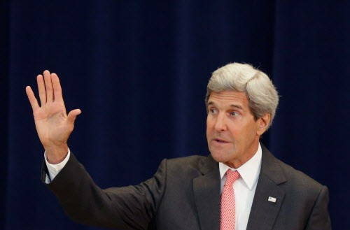 Is this the gesture John Kerry makes when hes dismissing Benjamin Netanyahu?