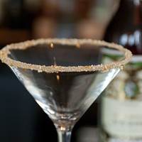 """Spiaggia's Brendan Smith whips up some """"dessert mustard"""" It sparkles! Andrea Bauer"""