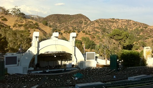 It was an amazing place. Notice the Hollywood sign in the background.