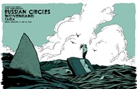 It's shark week (on a Russian Circles gig poster)