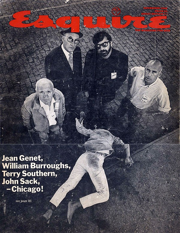 Jean Genet, William Burroughs, Terry Southern, John Sack in Esquire