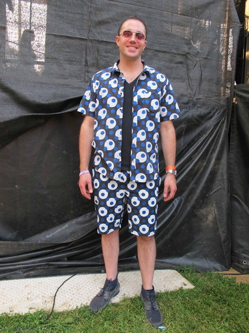 Jeremy. Came to see: Kendrick Lamar. Why this outfit: I was in Japan a few weeks ago and I saw it at a store, I thought it was cool.