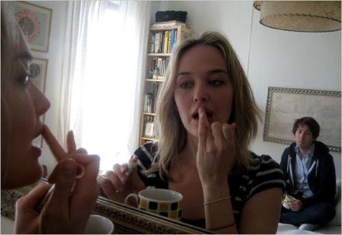 Jess Weixler and Justin Rice in