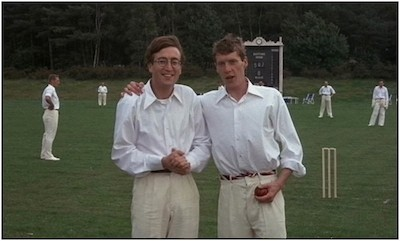 John Lennon and Michael Crawford, parodying their nations twits
