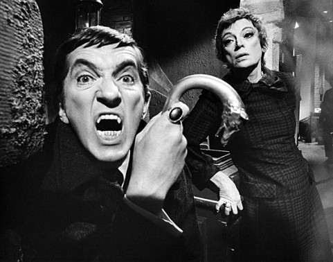 Jonathan Frid and Grayson Hall in the original Dark Shadows