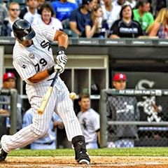 Jose Abreu slams a homer against the Mariners on July 4 at U.S. Cellular Field.