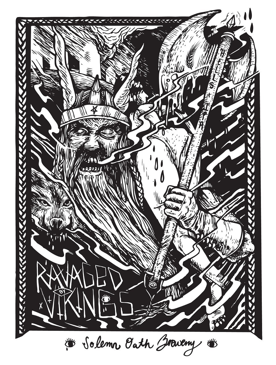 Jourdon Gulletts artwork for Ravaged by Vikings