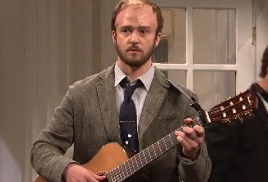 Justin Timberlake makes a great Justin Vernon