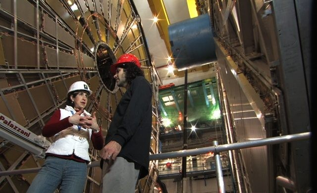 Kaplan (right) at the Large Hadron Collider