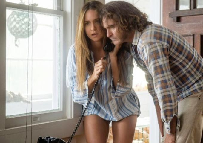 Katherine Waterston and Joaquin Phoenix star in Inherent Vice