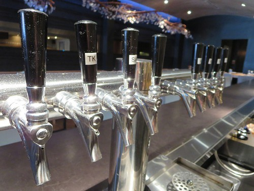 Kegged wines on tap.