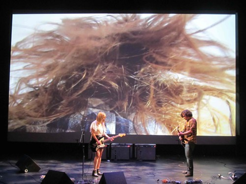 Kim Gordon and Bill Nace at the MCA Chicago
