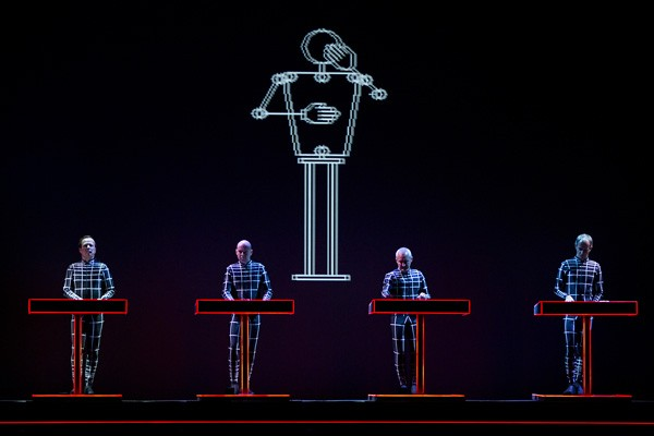 Kraftwerk performs a 3-D concert in the Dutch city of Eindhoven in 2013. - PAUL BERGEN/AFP/GETTY IMAGES