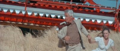 Lee Marvin and Sissy Spacek run from a deadly wheat thresher in Prime Cut