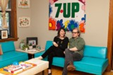 Lisa and Bill Roe in their Palmer Square apartment - ANDREA BAUER