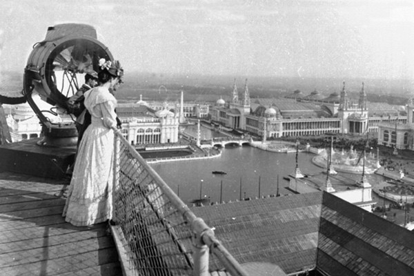 Looking southwest from the Manufactures and Liberal Arts Building at the 1893 World's Columbian Exposition