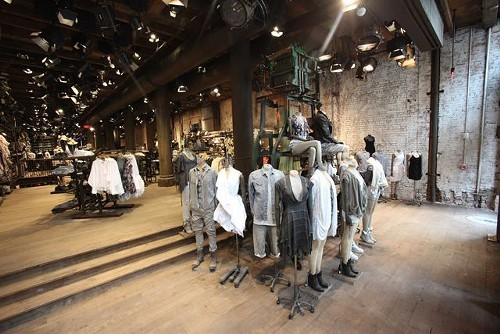 Looks from British brand Allsaints, now open on Michigan Avenue