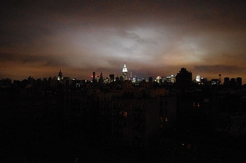 Lower Manhattan, plunged into dark by Sandy.