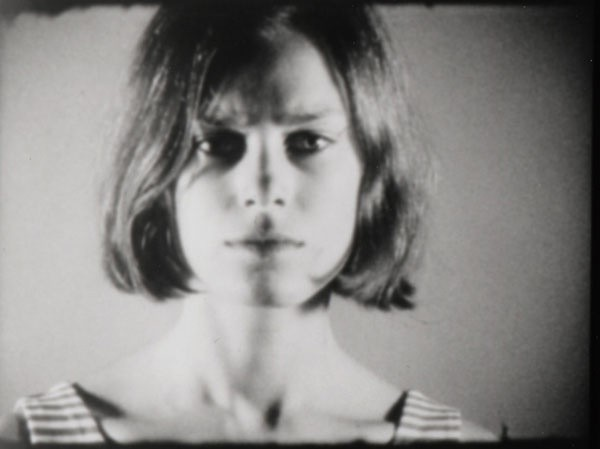 Lucinda Childs in one of Andy Warhols screen tests