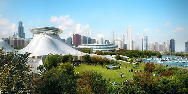 Ma Yansong and Beijing-based MAD Architects' rendering of the Lucas Museum of Narrative Art - COURTESY OF LUCAS MUSEUM OF NARRATIVE ART