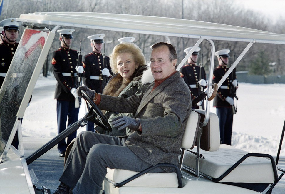 Margaret Thatcher and George H.W. Bush