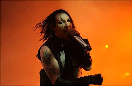Marilyn Manson performing in 2009