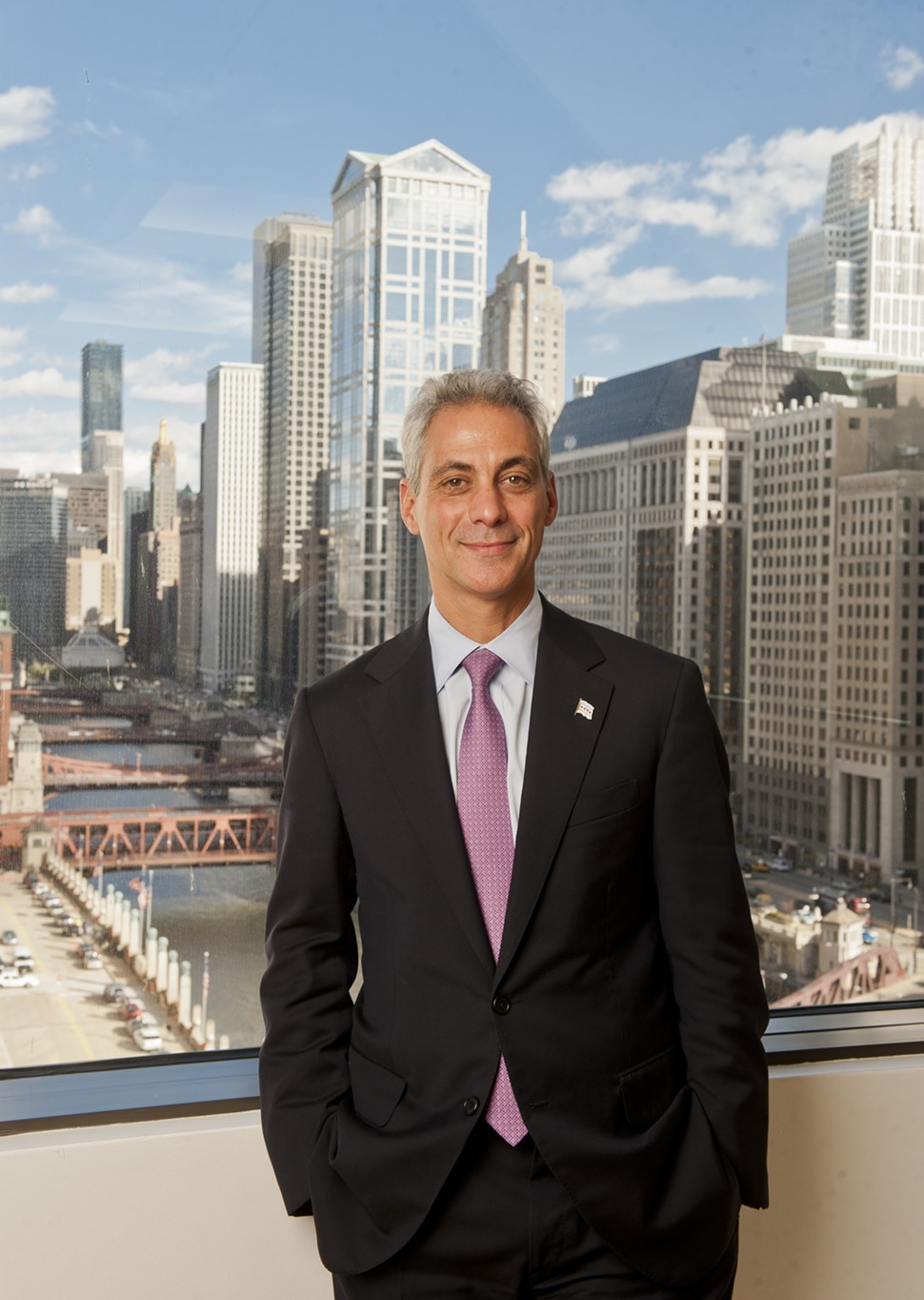 Mayor Emanuel at the Sun-Times yesterday