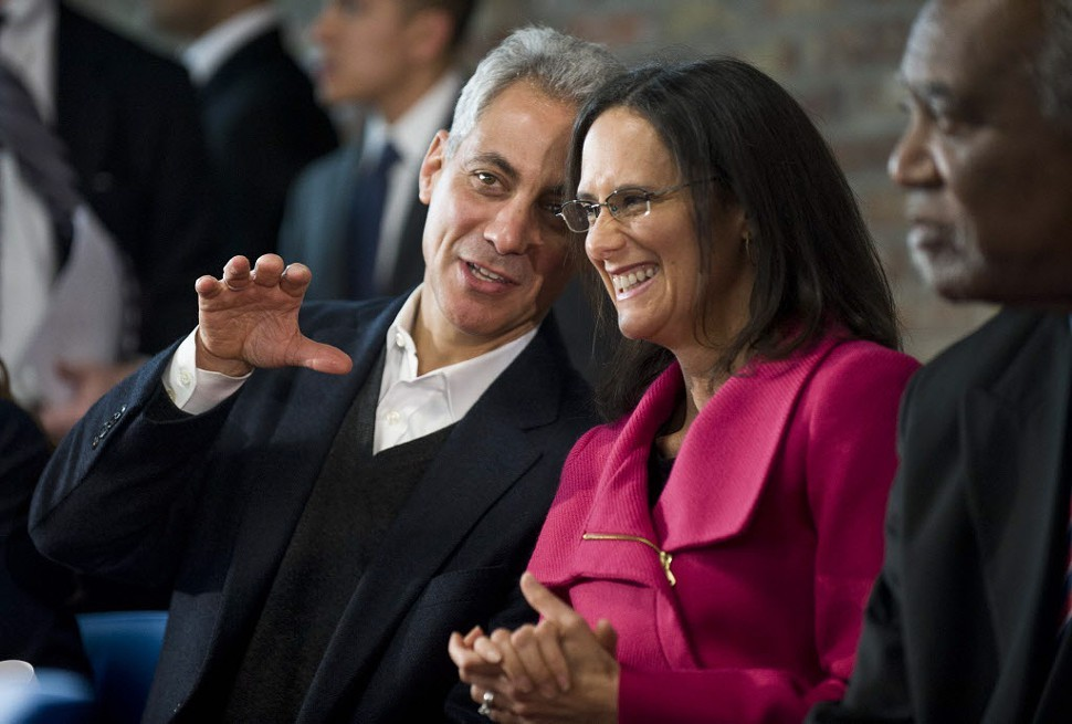 Mayor Rahm Emanuel and Attorney General Lisa Madigan in January, 2013